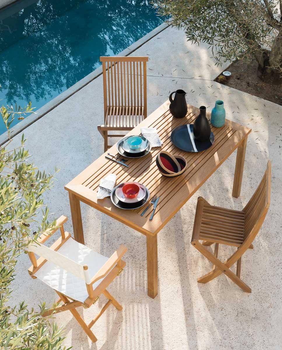 designer garden tables wooden metal teak by unopi. Black Bedroom Furniture Sets. Home Design Ideas